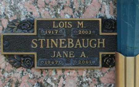 STINEBAUGH, JANE A - Maricopa County, Arizona | JANE A STINEBAUGH - Arizona Gravestone Photos