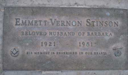 STINSON, EMMETT VERNON - Maricopa County, Arizona | EMMETT VERNON STINSON - Arizona Gravestone Photos