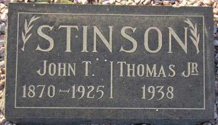 STINSON, JOHN T. - Maricopa County, Arizona | JOHN T. STINSON - Arizona Gravestone Photos