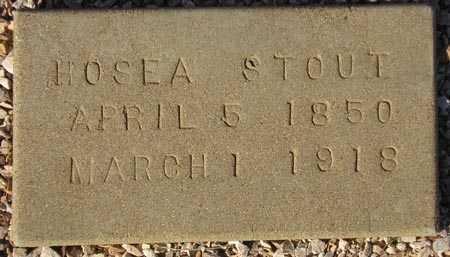 STOUT, HOSEA - Maricopa County, Arizona | HOSEA STOUT - Arizona Gravestone Photos