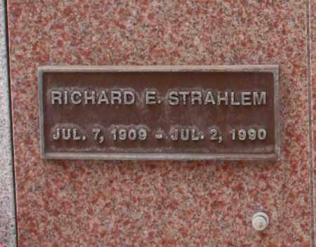 STRAHLEM, RICHARD E. - Maricopa County, Arizona | RICHARD E. STRAHLEM - Arizona Gravestone Photos