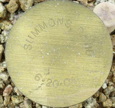 SUMMONS, DAVID - Maricopa County, Arizona | DAVID SUMMONS - Arizona Gravestone Photos