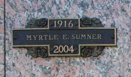 SUMNER, MYRTLE E - Maricopa County, Arizona   MYRTLE E SUMNER - Arizona Gravestone Photos