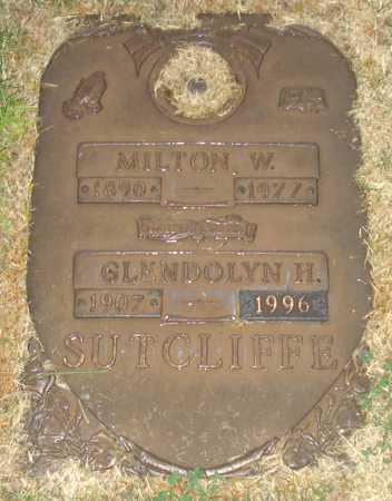 SUTCLIFFE, MILTON W. - Maricopa County, Arizona   MILTON W. SUTCLIFFE - Arizona Gravestone Photos