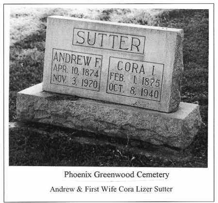 SUTTER, ANDREW F. - Maricopa County, Arizona | ANDREW F. SUTTER - Arizona Gravestone Photos