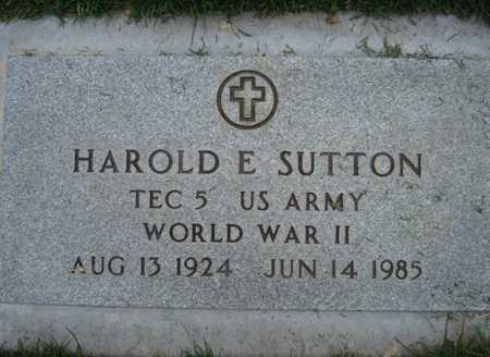 SUTTON, HAROLD E. - Maricopa County, Arizona | HAROLD E. SUTTON - Arizona Gravestone Photos