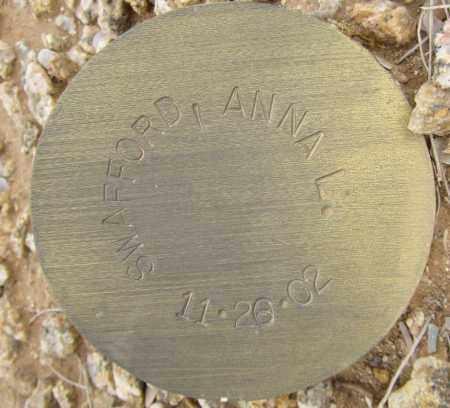 SWAFFORD, ANNA L. - Maricopa County, Arizona | ANNA L. SWAFFORD - Arizona Gravestone Photos