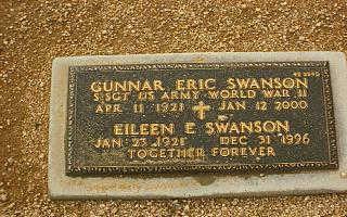 SWANSON, EILEEN E. - Maricopa County, Arizona | EILEEN E. SWANSON - Arizona Gravestone Photos