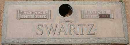 SWARTZ, MURVINGTON C. - Maricopa County, Arizona   MURVINGTON C. SWARTZ - Arizona Gravestone Photos