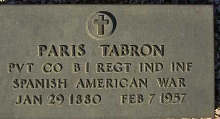 TABRON, PARIS - Maricopa County, Arizona   PARIS TABRON - Arizona Gravestone Photos