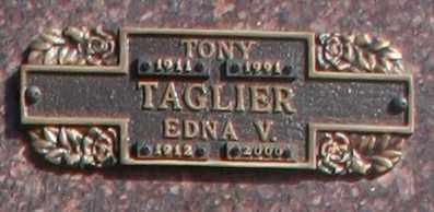 TAGLIER, EDNA V - Maricopa County, Arizona | EDNA V TAGLIER - Arizona Gravestone Photos