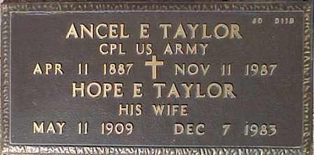 TAYLOR, HOPE E. - Maricopa County, Arizona | HOPE E. TAYLOR - Arizona Gravestone Photos
