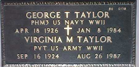 TAYLOR, VIRGINIA M. - Maricopa County, Arizona | VIRGINIA M. TAYLOR - Arizona Gravestone Photos