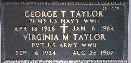 TAYLOR, GEORGE T. - Maricopa County, Arizona | GEORGE T. TAYLOR - Arizona Gravestone Photos