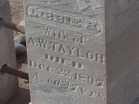 TAYLOR, LIBBIE H. - Maricopa County, Arizona | LIBBIE H. TAYLOR - Arizona Gravestone Photos