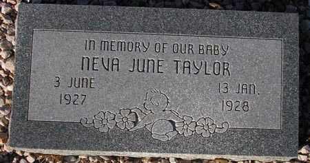 TAYLOR, NEVA JUNE - Maricopa County, Arizona | NEVA JUNE TAYLOR - Arizona Gravestone Photos