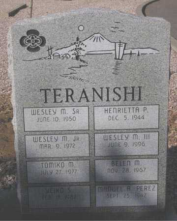 TERANISHI, YEIKO S. - Maricopa County, Arizona | YEIKO S. TERANISHI - Arizona Gravestone Photos