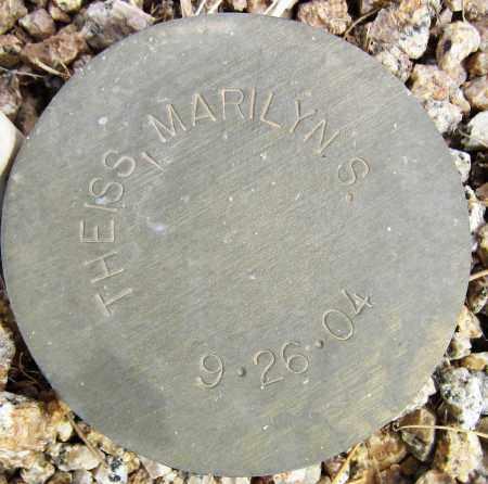 THEISS, MARILYN S. - Maricopa County, Arizona | MARILYN S. THEISS - Arizona Gravestone Photos