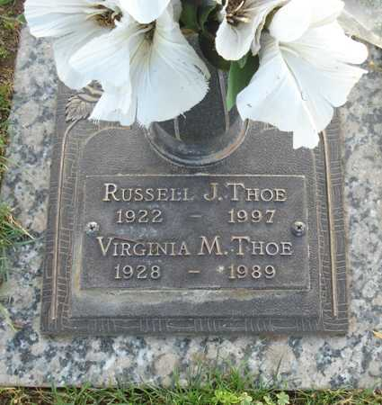 THOE, RUSSELL J. - Maricopa County, Arizona | RUSSELL J. THOE - Arizona Gravestone Photos