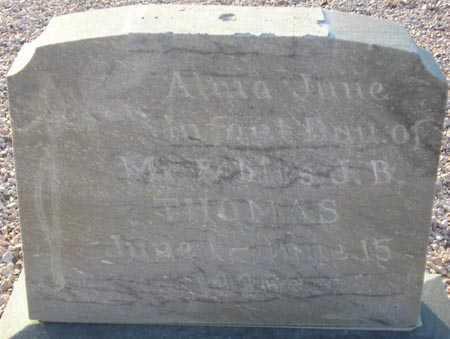 THOMAS, ALMA JUNE - Maricopa County, Arizona | ALMA JUNE THOMAS - Arizona Gravestone Photos