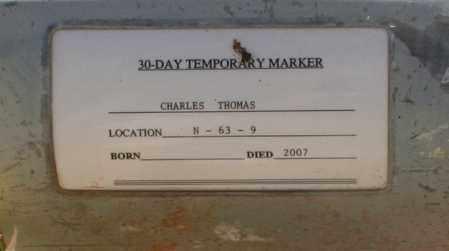 THOMAS, CHARLES - Maricopa County, Arizona | CHARLES THOMAS - Arizona Gravestone Photos