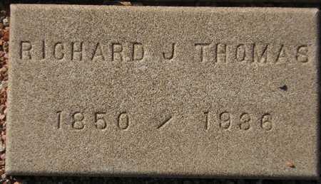 THOMAS, RICHARD J. - Maricopa County, Arizona | RICHARD J. THOMAS - Arizona Gravestone Photos
