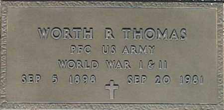 THOMAS, WORTH R - Maricopa County, Arizona | WORTH R THOMAS - Arizona Gravestone Photos