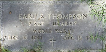 THOMPSON, EARL E - Maricopa County, Arizona | EARL E THOMPSON - Arizona Gravestone Photos