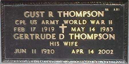 THOMPSON, GUST R. - Maricopa County, Arizona | GUST R. THOMPSON - Arizona Gravestone Photos