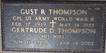 THOMPSON, GERTRUDE D. - Maricopa County, Arizona   GERTRUDE D. THOMPSON - Arizona Gravestone Photos