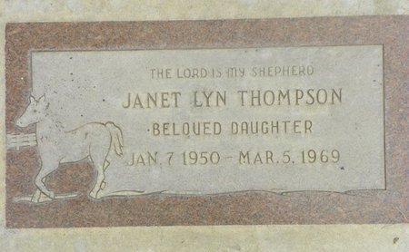 THOMPSON, JANET LYN - Maricopa County, Arizona   JANET LYN THOMPSON - Arizona Gravestone Photos