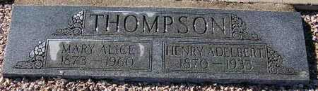 THOMPSON, HENRY ADELBERT - Maricopa County, Arizona | HENRY ADELBERT THOMPSON - Arizona Gravestone Photos