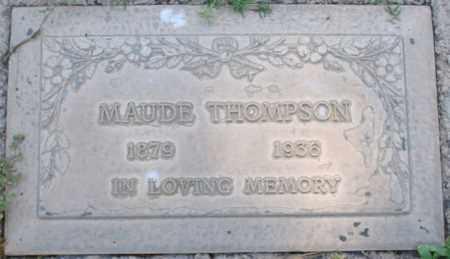 THOMPSON, MAUDE - Maricopa County, Arizona   MAUDE THOMPSON - Arizona Gravestone Photos