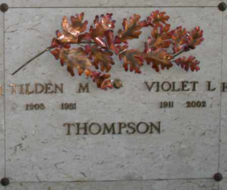 THOMPSON, TILDEN M - Maricopa County, Arizona | TILDEN M THOMPSON - Arizona Gravestone Photos