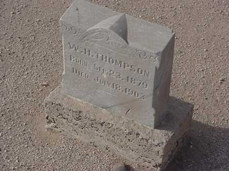 THOMPSON, W. H. - Maricopa County, Arizona | W. H. THOMPSON - Arizona Gravestone Photos