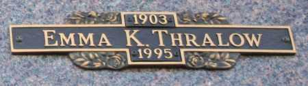 THRALOW, EMMA K - Maricopa County, Arizona | EMMA K THRALOW - Arizona Gravestone Photos