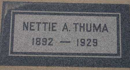 THUMA, NETTIE A. - Maricopa County, Arizona | NETTIE A. THUMA - Arizona Gravestone Photos