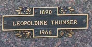 THUMSER, LEOPOLDINE - Maricopa County, Arizona   LEOPOLDINE THUMSER - Arizona Gravestone Photos