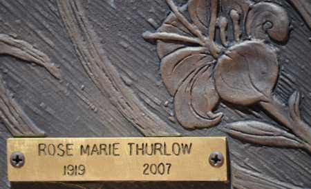 THURLOW, ROSE MARIE - Maricopa County, Arizona   ROSE MARIE THURLOW - Arizona Gravestone Photos