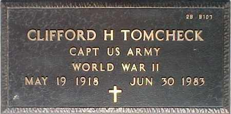 TOMCHECK, CLIFFORD H. - Maricopa County, Arizona | CLIFFORD H. TOMCHECK - Arizona Gravestone Photos