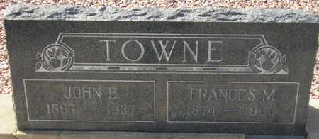 TOWNE, FRANCES M. - Maricopa County, Arizona | FRANCES M. TOWNE - Arizona Gravestone Photos