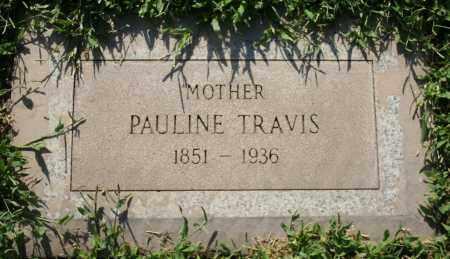TRAVIS, PAULINE - Maricopa County, Arizona   PAULINE TRAVIS - Arizona Gravestone Photos