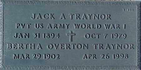 TRAYNOR, JACK A. - Maricopa County, Arizona | JACK A. TRAYNOR - Arizona Gravestone Photos