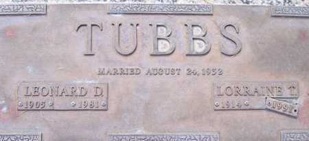 TUBBS, LORRAINE T. - Maricopa County, Arizona | LORRAINE T. TUBBS - Arizona Gravestone Photos