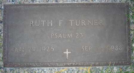 TURNER, RUTH F. - Maricopa County, Arizona | RUTH F. TURNER - Arizona Gravestone Photos