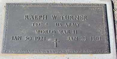 TURNER, RALPH W. - Maricopa County, Arizona | RALPH W. TURNER - Arizona Gravestone Photos