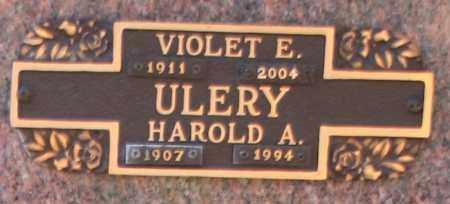 ULERY, VIOLET E - Maricopa County, Arizona | VIOLET E ULERY - Arizona Gravestone Photos
