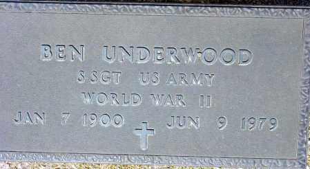 UNDERWOOD, BEN - Maricopa County, Arizona | BEN UNDERWOOD - Arizona Gravestone Photos