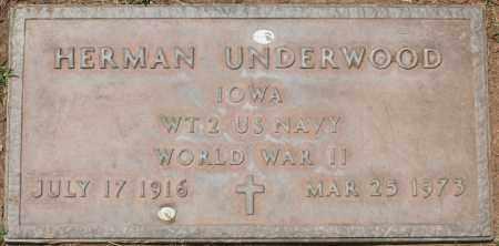 UNDERWOOD, HERMAN - Maricopa County, Arizona | HERMAN UNDERWOOD - Arizona Gravestone Photos