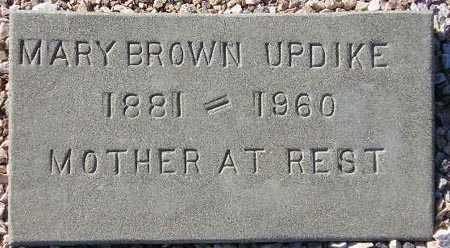UPDIKE, MARY BROWN - Maricopa County, Arizona   MARY BROWN UPDIKE - Arizona Gravestone Photos